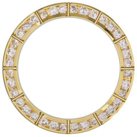 3.00Ct Sports Model One Bar Diamond Bezel, Yellow Gold