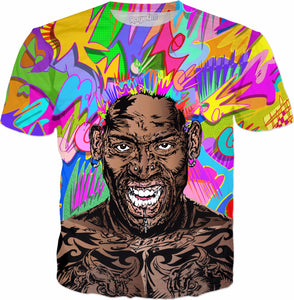 Dennis Rodman All-Over-Print  T-shirt