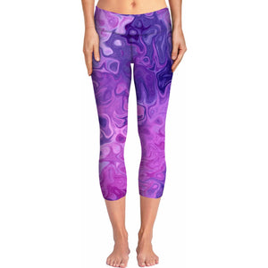 Paint Swirl Yoga Pants
