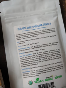 Blue Spirulina Powder ll Smoothies + Kids Foods ll Immune Support