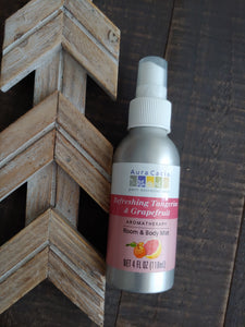 Tangerine + Grapefruit Aromatherapy Home and Body Mist ll Room Spray - SimplyGinger