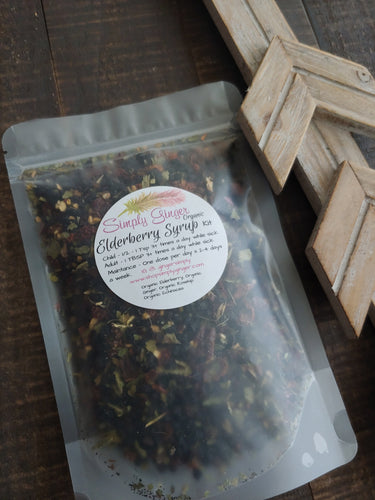 Organic Elderberry Syrup Kit PLUS ll Immune Boost ll 16 Ounce Kit - SimplyGinger