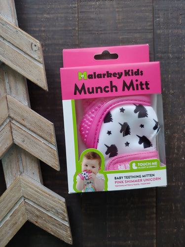 Munch Mitt ll Pink Shimmer Unicorns