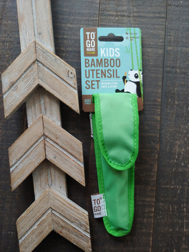REUSABLE REPEAT UTENSIL SETS FOR KIDS ll Kiwi Green