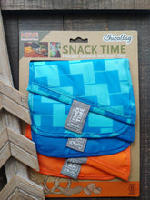 BLUE + ORANGE BLUE LADDER REUSABLE POLYESTER SNACK BAGS ll Chicco Bag