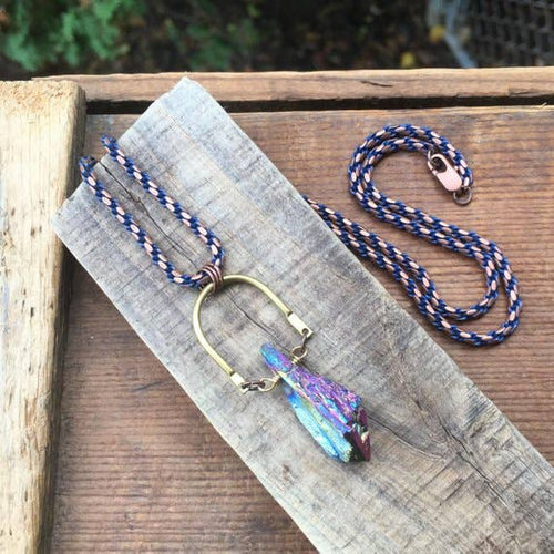 Titanium Amethyst Rope Chain ll Necklaces - SimplyGinger