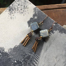 Pyrite & Brass Tassel Dangles ll Earrings - SimplyGinger