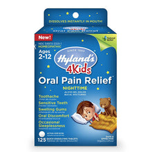 Oral Pain Relief Quick Dissolving Tablets 4 Kids ll Night Time ll Hylands, 125 Tablets - SimplyGinger