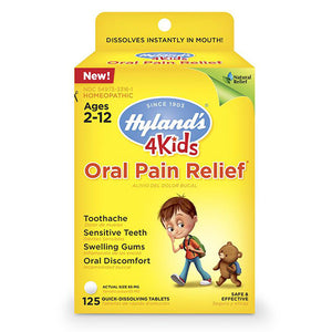 Oral Pain Relief Quick Dissolving Tablets ll Hylands, 125 Tablets