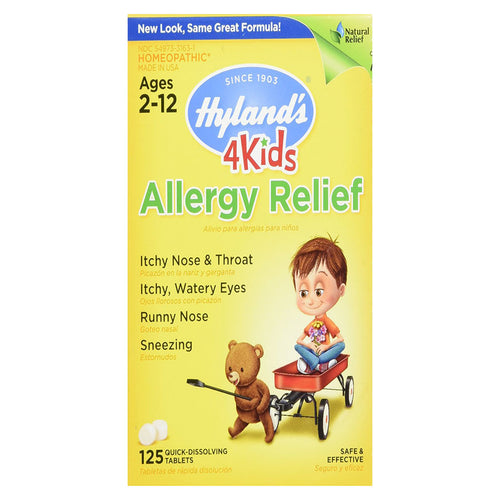 Allergy Relief Quick Dissolving Tablets ll Hylands, 125 Tablets