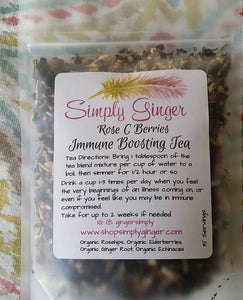 Organic Immune Boosting Syrup Kit - Rose C Berries - SimplyGinger