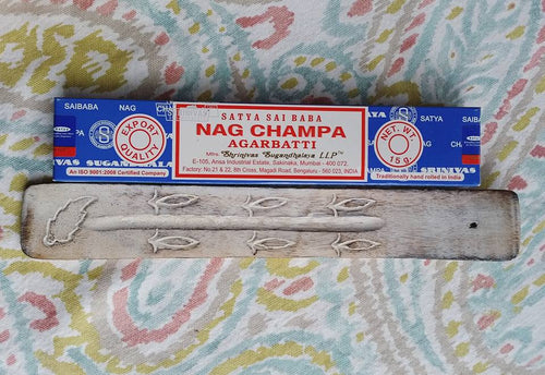 Nag Champa Incense and Incense Holder Combo - SimplyGinger