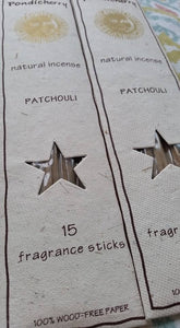Patchouli Incense Sticks - 15 Sticks - SimplyGinger