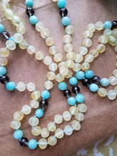 Amazonite and Smoky Quartz - Raw Lemon Baltic Amber - SimplyGinger