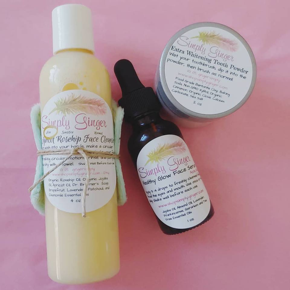 Creamy Rosehip + Chamomile Facial Cleanser ll Face Wash - SimplyGinger