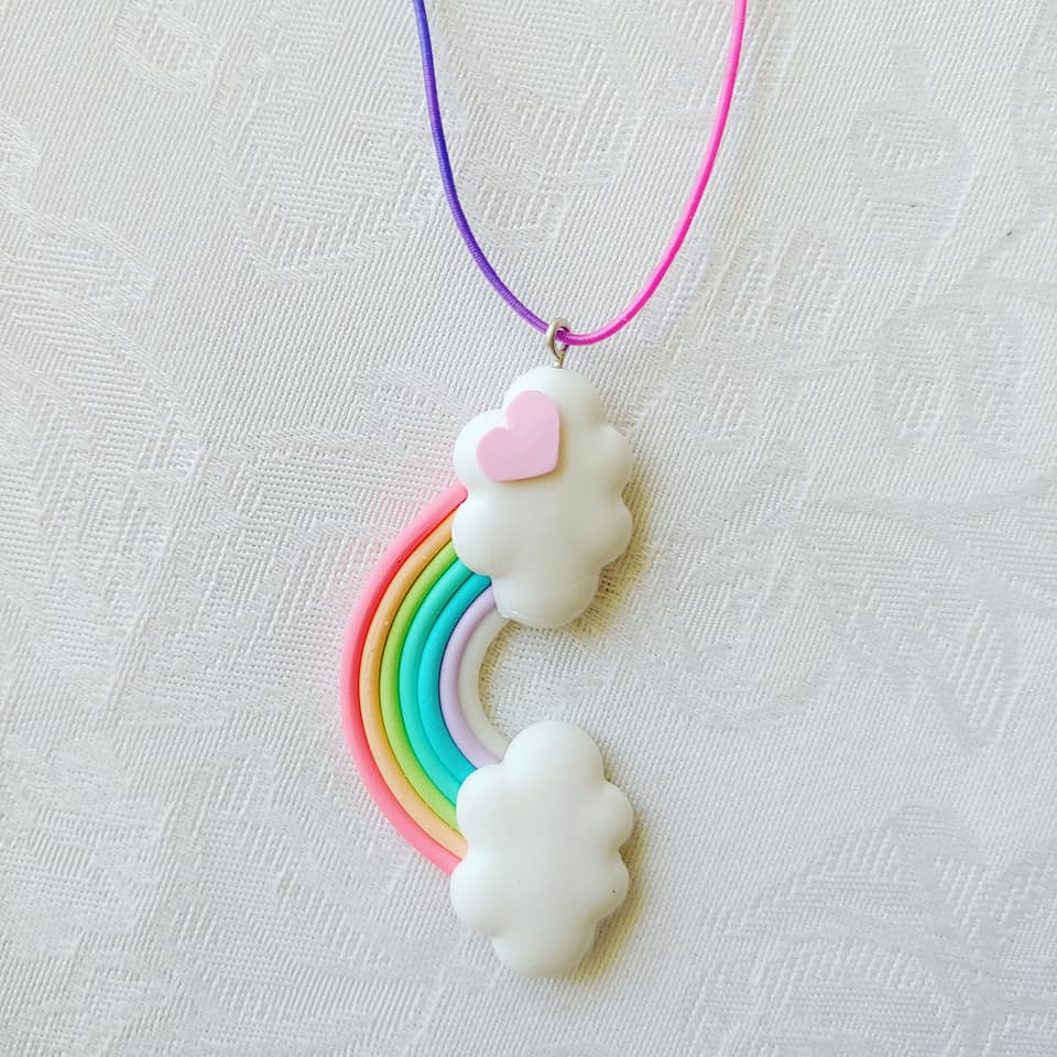 Rainbow_Cloud Necklace ll Stretchy - SimplyGinger