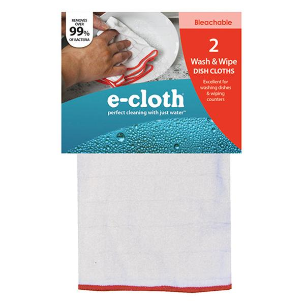 E-CLOTH WASH & WIPE DISH CLOTHS 2 COUNT - SimplyGinger