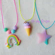 Rainbow Lollipop Pendant Necklace ll Stretchy - SimplyGinger