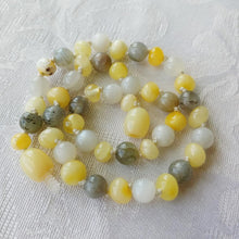 Moonstone, Labradorite + Polished Buttermilk Baltic Amber Teething Necklace ll Pain ll Calming ll Drooling + More - SimplyGinger