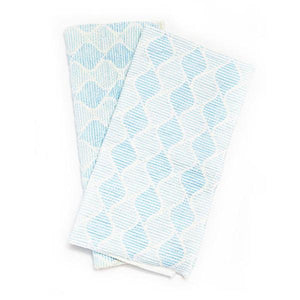 FULL CIRCLE BLUE WAVE CLEAN AGAIN SUPER ABSORBENT CLEANING CLOTHS - 2 Clothes - SimplyGinger