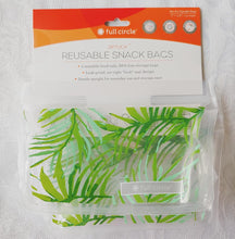 Full Circle Adults + Kids Reusable Ziptuck Snack Bags 2 Count ll Palm Leaves - SimplyGinger