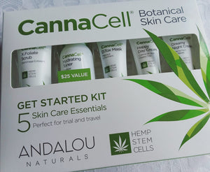Andalou Naturals Cannacell 5-Piece ll Get Started Botanical Skin Care Kit - SimplyGinger