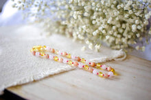 Rose Quartz, Sunstone + Polished Lemon Baltic Amber Teething Necklace ll Calming ll Pain
