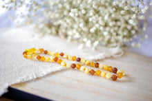 Multi Color Raw Baltic Amber Teething Necklace ll Drooling ll Pain ll Calming