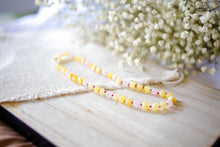 Rose Quartz + Raw and Polished Lemon Baltic Amber Teething Necklace ll Pain ll Calming ll Arthritis