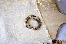 Leopard-Skin Jasper, Green Lace Agate + Raw Green Baltic Amber Necklace ll Pain ll Arthritis