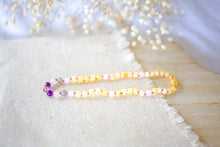 Rose Quartz, Smoky Quartz, Amethyst, Labdorite + Raw Lemon Baltic Amber Necklace