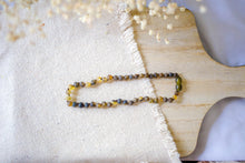 Raw Green Baltic Amber Teething Necklace ll  Pain ll Stress ll Drooling + More