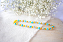 Labradorite, Turquoise + Raw Apricot Baltic Amber Necklace ll Calming ll Pain +