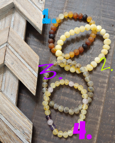 Adult Baltic Amber Stretchy Bracelets ll Baltic Amber - SimplyGinger