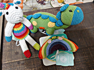 Friendly Rainbow Rattle - SimplyGinger