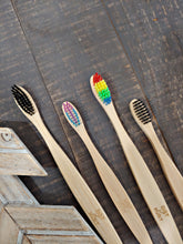 Rainbow Bristle Bamboo Toothbrush ll Teen+ Adult ll Soft Bristles - SimplyGinger