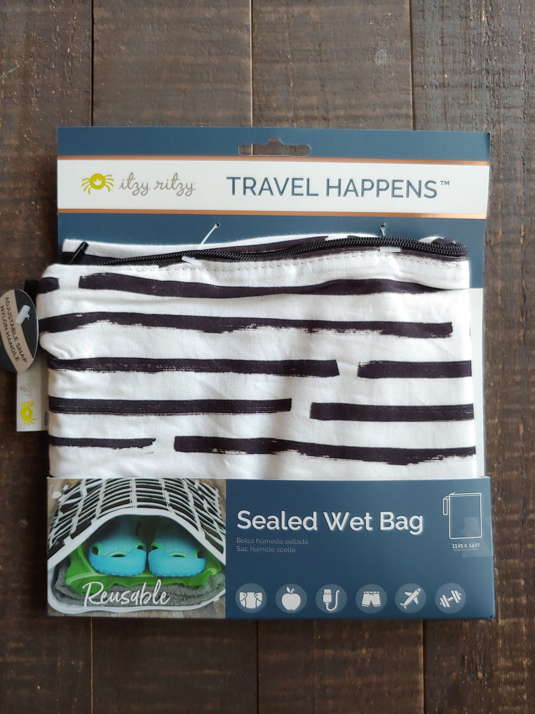 Dot Dot Dash Wet Bag ll Medium ll Travel Bag - SimplyGinger