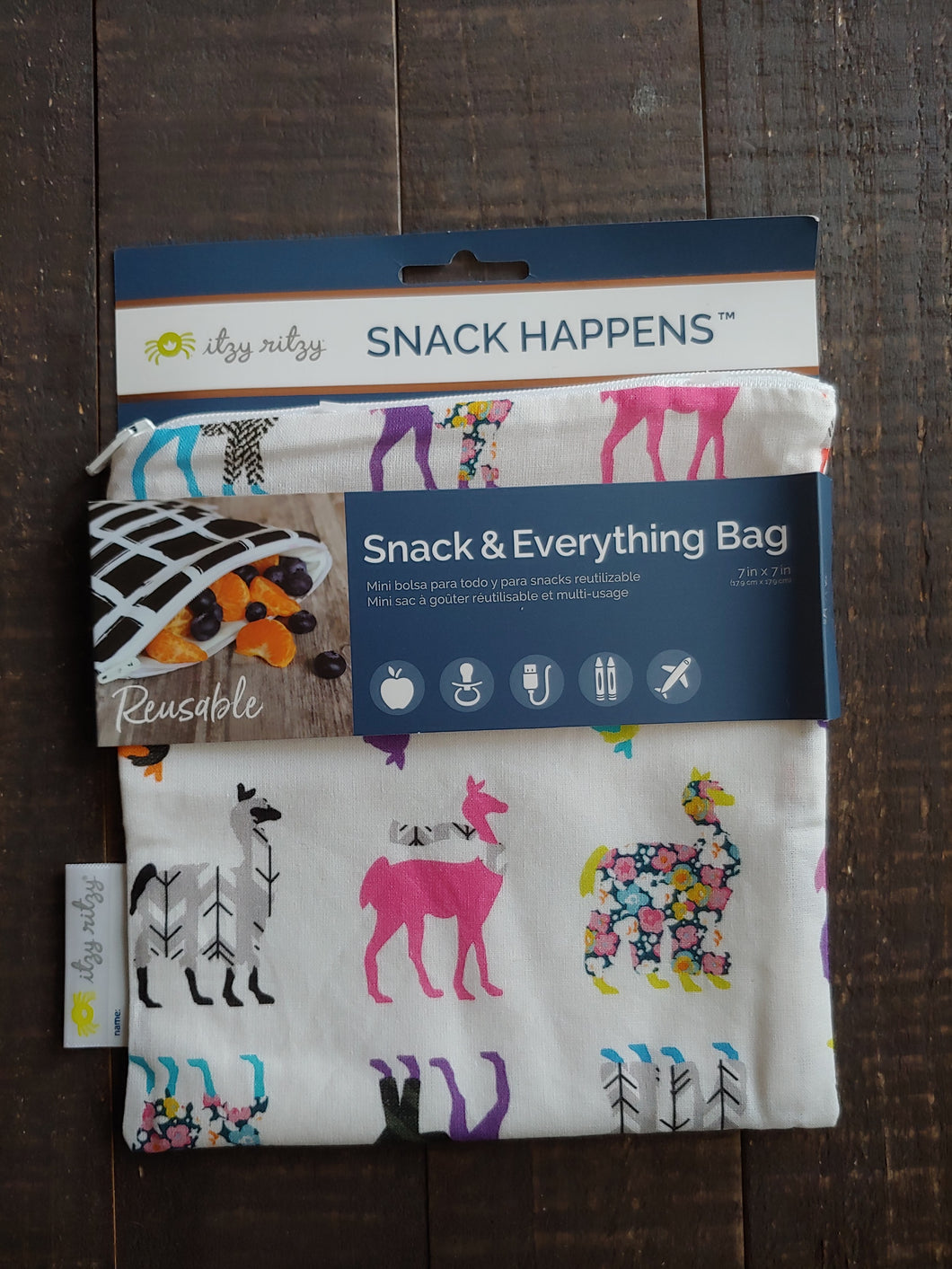 Llama Gllama Snack + Everything Bag ll Travel Bag ll Storage Bag 1 Pack - SimplyGinger