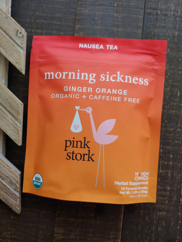 Morning Sickness Orange Ginger Tea  ll Pink Stork