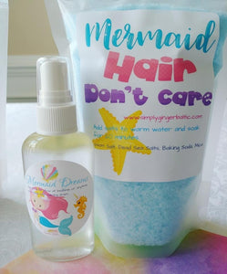 Mermaid Dreams Pillow Spray + Bath Salts - SimplyGinger