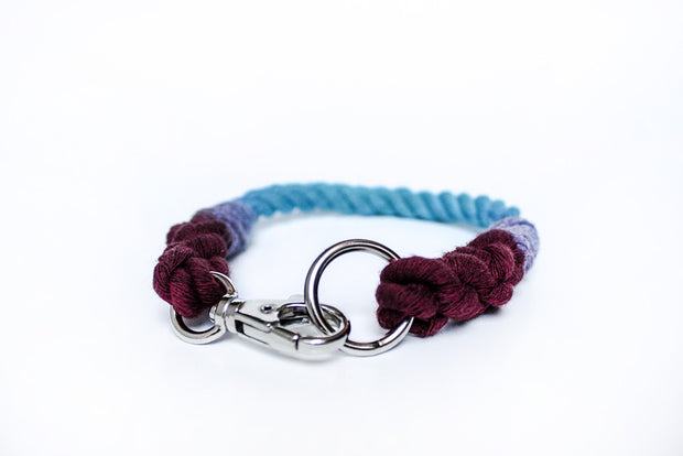 8mm Rope Collar in Mulberry/Turquoise, Collars, Jolly Hound, - Winnie Lou - The Canine Company