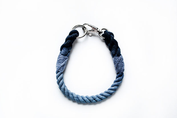 8mm Rope Collar in Navy/Ice Blue, Collars, Jolly Hound, - Winnie Lou - The Canine Company