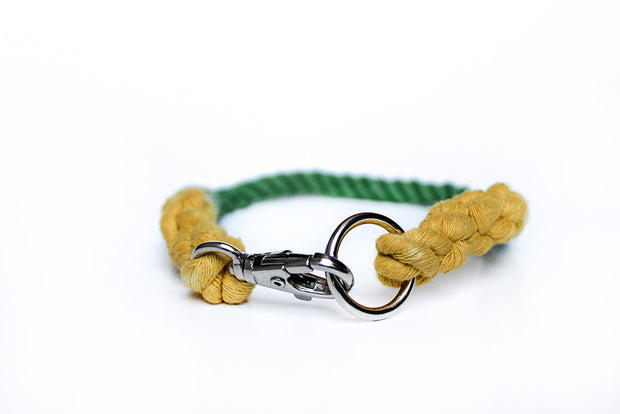 8mm Rope Collar in Yellow/Emerald, Collars, Jolly Hound, - Winnie Lou - The Canine Company