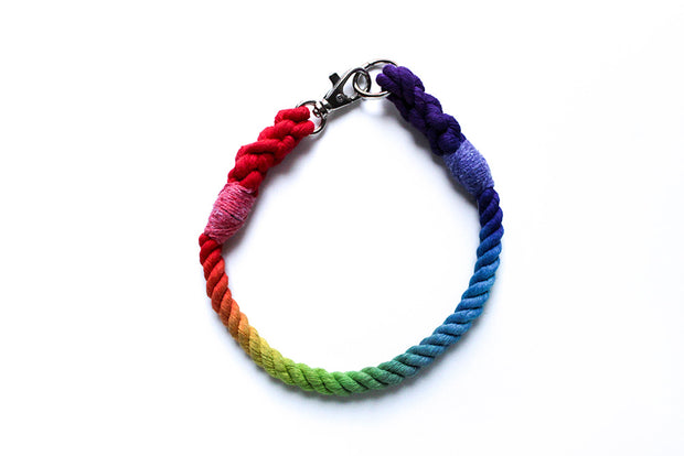 8mm Rope Collar in Rainbow, Collars, Jolly Hound, - Winnie Lou - The Canine Company