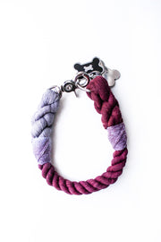 12mm Rope Collar in Grey/Claret/Mulberry, Collars, Jolly Hound, - Winnie Lou - The Canine Company