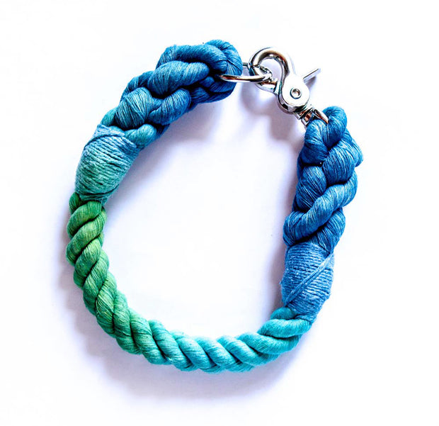 12mm Rope Collar in Peacock Marble, Collars, Jolly Hound, - Winnie Lou - The Canine Company