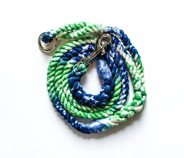 8mm Rope Leash in Galaxy Emerald/Navy, Leashes, Jolly Hound, - Winnie Lou - The Canine Company