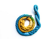 12mm Rope Leash in Turquoise/Yellow, Leashes, Jolly Hound, - Winnie Lou - The Canine Company