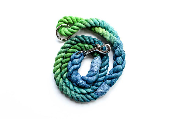 12mm Rope Leash in Marble Peacock, Leashes, Jolly Hound, - Winnie Lou - The Canine Company