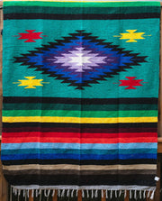 Aztec Dog Blanket in Charcoal/Multi Color, Blankets, West Path, - Winnie Lou - The Canine Company